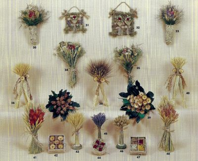 Dried flowers wholesale designs brochure.