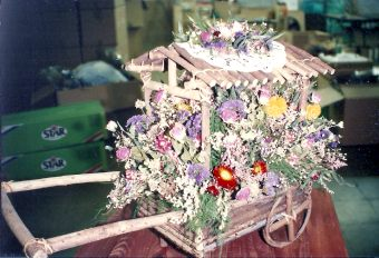 Dried flower cart