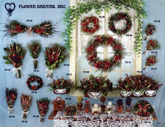 Brochure for wholesale dried flower designs