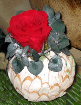 Preserved rose design