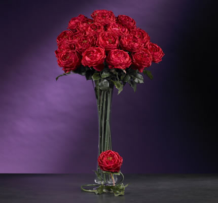 Large Rose Stem Red