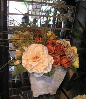 Silk Roses and Hydrangeas