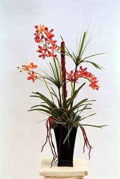 Oncidium orchid design in metal