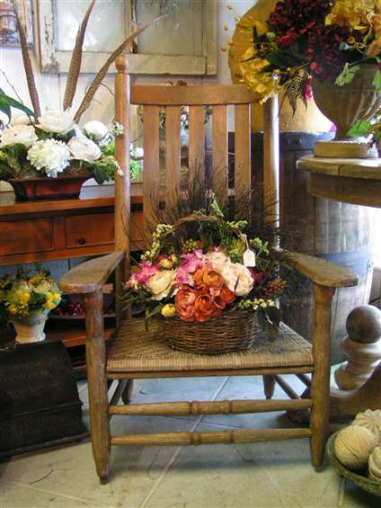 Floral display at joys florist