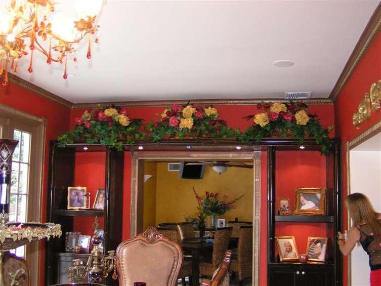 Silk flowers custom work for residence