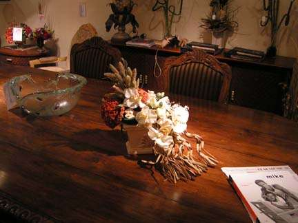 artificial flowers centerpiece
