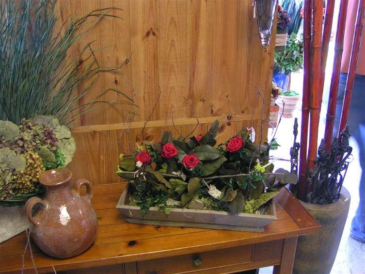 silk floral display at Joys florist