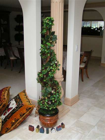 Silk topiary tree