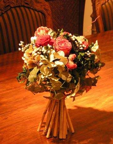 Mixed standing bouquet