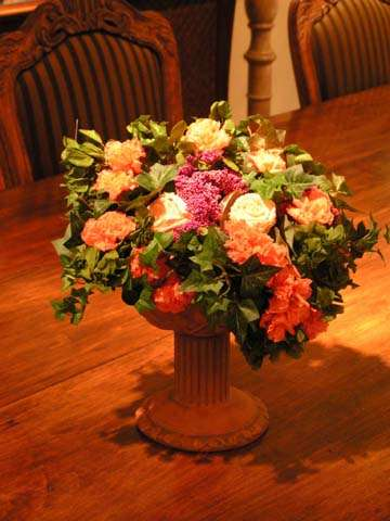 Mixed flower urn