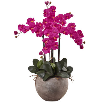Purple phalenopsis orchid arrangement