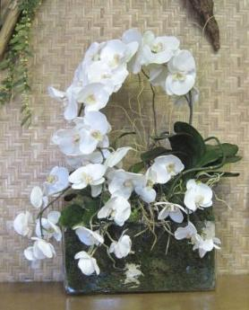 Artificial Silk orchid arrangement