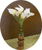 Artificial callas flowers