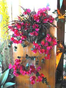 Silk bouganvilla, wall decoration