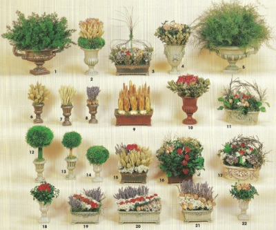 Dried Flower arrangements brochure