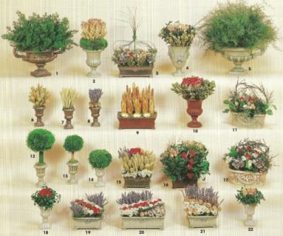 Dried Flower arrangements brochure