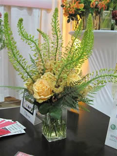 Modern Flower arrangement in glass vase