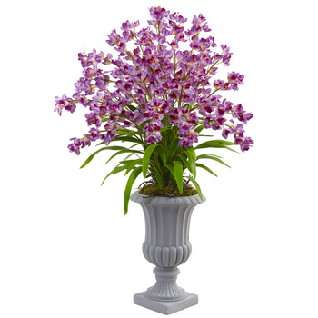 Giant Blooming Orchid Arrangement With Urn