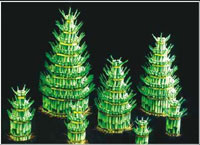Lucky bamboo towers