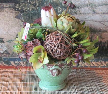 Whimsical floral arrangement