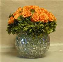 preserved roses flower bowl