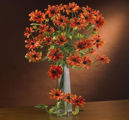 silk flower orange