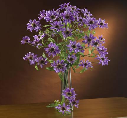 silk flowers purple