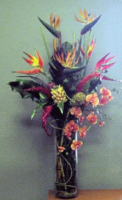 Artificial Tropical flower arrangement