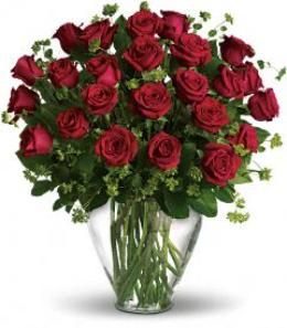 Valentine Day 3 dozen red roses. Classical rose arrangement