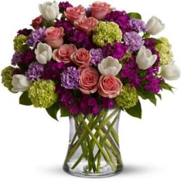 Valentine Day Mixed Flower Arrangement