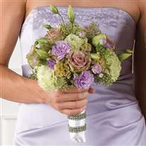 wedding bridal bouquet green lavander