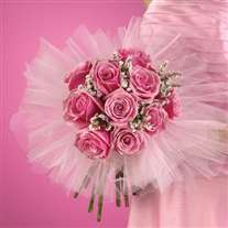 Wedding bridal bouquet lush pink