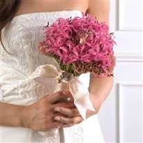 wedding bridal bouquet pink tones
