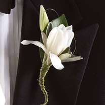 Boutonniers for man's wedding. Modern