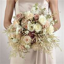 Wedding bridal bouquet mixed white flowers
