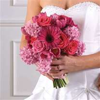 Wedding pink bridal bouquet
