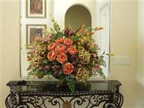 Classic silk flower arrangement