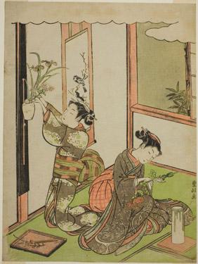 ikebana painting