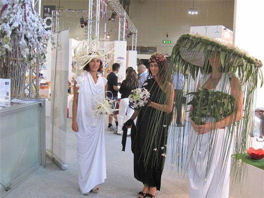 Italian Flower Models at the MAcef show in Milan 2011