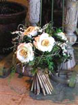 Standing floral bouquet with siilk and dried flowers