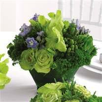 Modern flower design in green tones